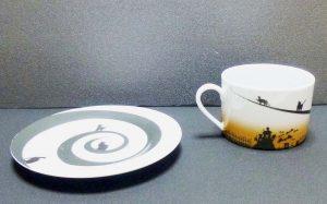土星のネコ カップ&ソーサーその3