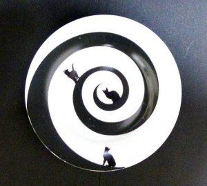 土星のネコ カップ&ソーサーその4