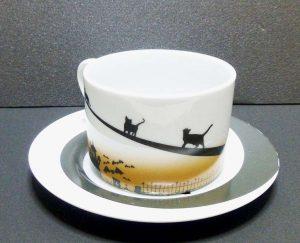 土星のネコ カップ&ソーサーその6