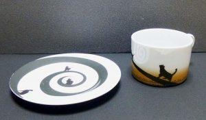 土星のネコ カップ&ソーサーその1